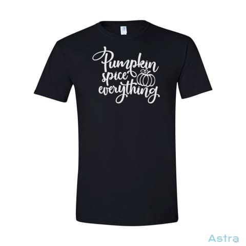 Pumpkin Spice Everything Mens Softstyle T-Shirt Apparel 10-20 Apparel Autumn Black Clothing $19.95 Astraest.com: Astraest