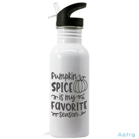 Pumpkin Spice Is My Favorite Season 20Oz Stainless Steel Water Bottle White Drinkware 10-20 Birthday Drinkware Father Fathers-Day $19.99
