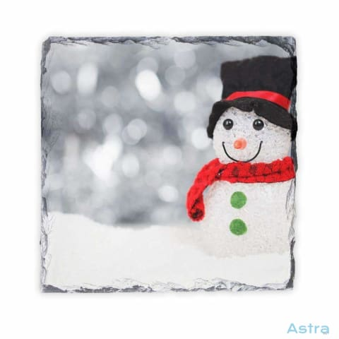 Snowman Square Photo Slate Home Decor 10-20 Homedecor Household-1 Photo-Slate Photo-Slates $18.99 Astraest.com: Astraest