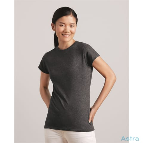 Soft-Style Womens T-Shirt Custom Apparel 10-20 Apparel Azale Black Blank $17.95 Astraest.com: Astraest