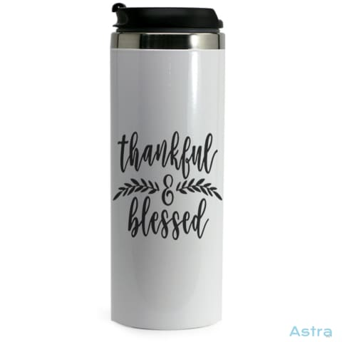 Thankful & Blessed 14Oz Stainless Steel Bottle Drinkware 20-30 Birthday Drinkware Predrink Premade $24.99 Astraest.com: Astraest