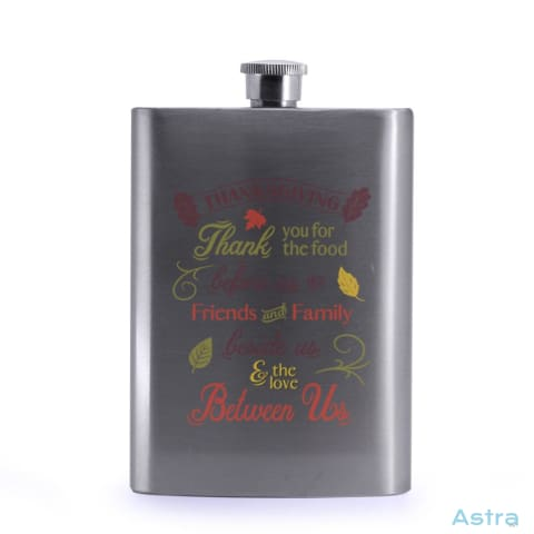 Thanksgiving Thanks 8Oz Stainless Steel Hip Flask Drinkware 20-30 Birthday Drinkware Flask Predrink $24.99 Astraest.com: Astraest