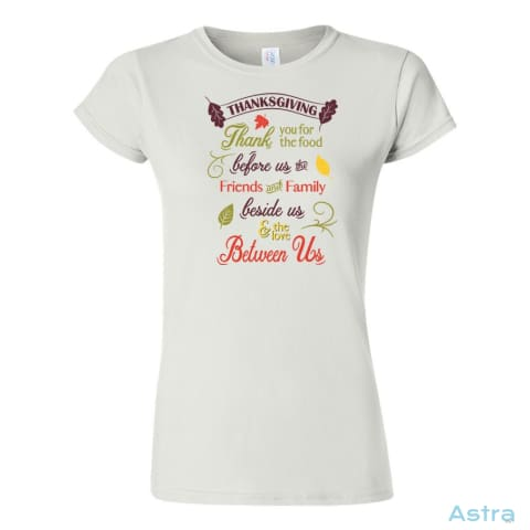 Thanksgiving Thanks Soft-Style Womens T-Shirt Womens Apparel 10-20 Apparel Autumn Azale Black $17.95 Astraest.com: Astraest