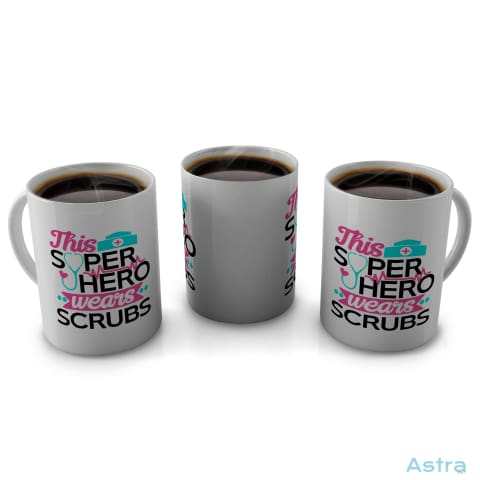 This Superhero Wears Scrubs 11Oz Coffee Mug Drinkware 10-20 Blue Ceramic Drinkware Mothers-Day $9.99 Astraest.com: Astraest