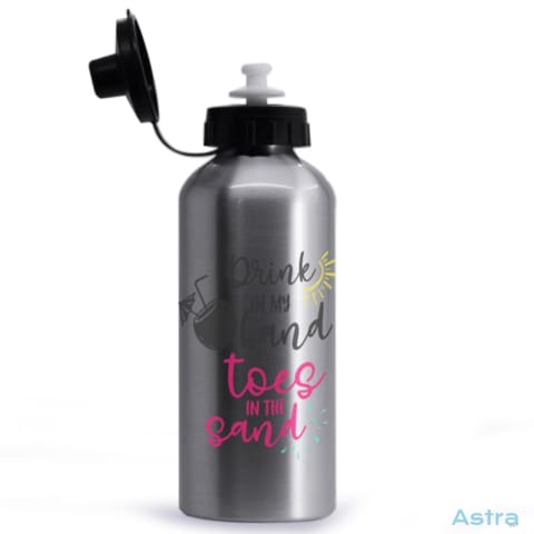 Toes In The Sand 20Oz Aluminum Water Bottle Silver Drinkware 10-20 Aluminum Drinkware Mothers-Day Predrink $14.99 Astraest.com: Astraest