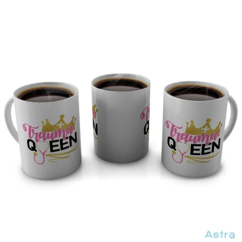 Trauma Queen 11Oz Coffee Mug Drinkware 10-20 Blue Ceramic Comic Drinkware $14.99 Astraest.com: Astraest