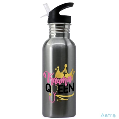Trauma Queen 20Oz Stainless Steel Water Bottle Stainless Drinkware 10-20 Comic Drinkware Mothers-Day Nurse $19.99 Astraest.com: Astraest