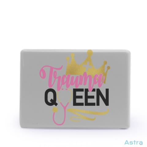 Trauma Queen Rectangle Plastic Fridge Magnet Home Decor Comic Homedecor Household-1 Magnet Magnets $7.95 Astraest.com: Astraest