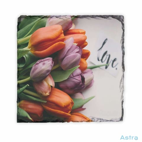 Tulip Love Square Photo Slate Home Decor 10-20 Homedecor Household-1 Photo-Slate Photo-Slates $16.95 Astraest.com: Astraest