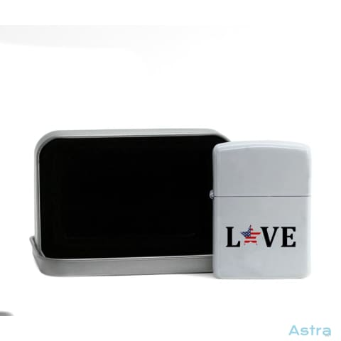 Usa Love Flip Lighter White Home Decor Flip-Lighter Forth Homedecor Household-1 Independence-Day $19.95 Astraest.com: Astraest