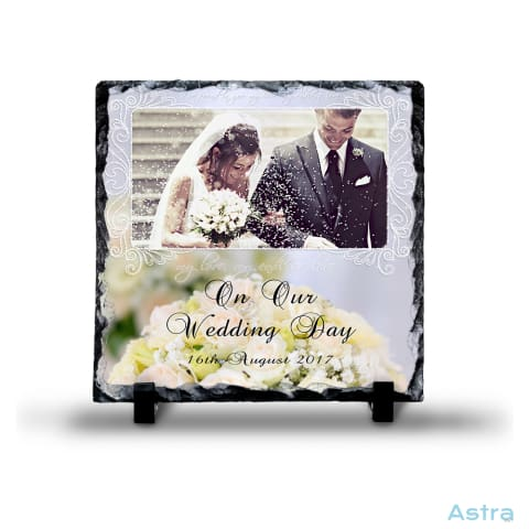 Wedding Memory Square Photo Slate Custom Home Decor Blank Custom_Home Design-Your-Own-1 Dyoh Household $16.95 Astraest.com: Astraest
