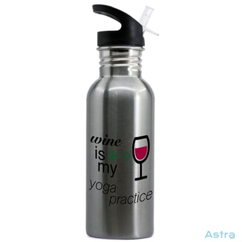 Wine Is My Yoga 20Oz Stainless Steel Water Bottle Stainless Drinkware 10-20 Drinkware Mom Mothers-Day Nurse $16.99 Astraest.com: Astraest