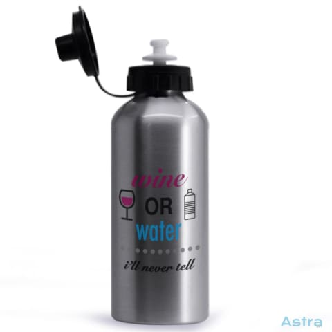 Wine Or Water 20Oz Aluminum Water Bottle Silver Drinkware 10-20 Aluminum Drinkware Mom Mothers-Day $14.99 Astraest.com: Astraest