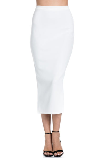 Perspective White Pencil Skirt S001 Basic 2020