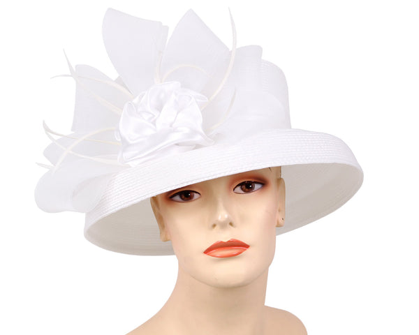 Ms Divine White Fashion Hat 27-7005 Spring 2020