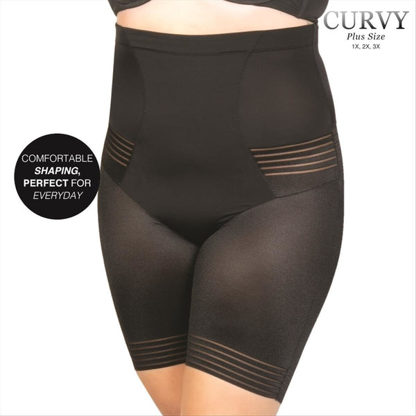 Curvy #U-59078X-BLACK PLUS Geometric Short Spring 2020