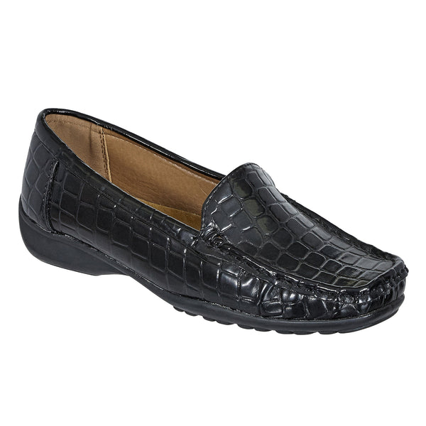 Pierre Dumas Black Crocodile Loafer Shoe 81207 - HAZEL-7 Fall 2019