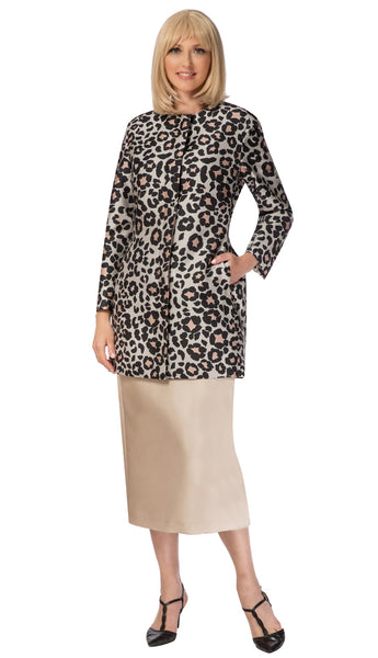 Giovanna Leopard 3pc Coat Suit G1120 Markdown 2019