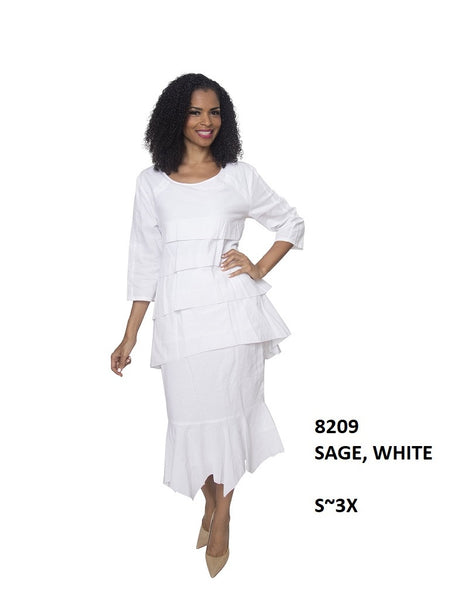Ella Belle White Linen Set 8209 Summer 2020