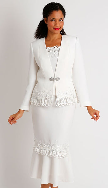 Diana Ivory 3pc Suit 8426 Markdown 2019