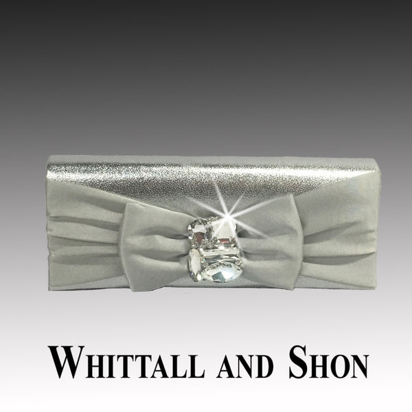 Whittall & Shon Silver Jewel Box Illusion With Jewel Brooch P137 JEWEL BOX Handbag Fall 2019