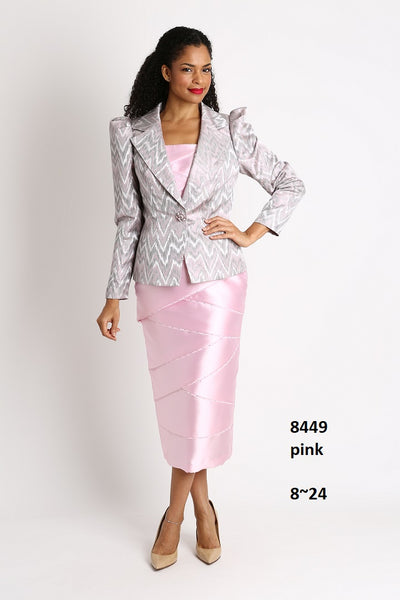 Diana 2 pc Suit Pink 8449 Holiday 2019