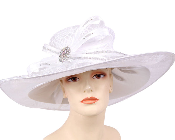 Ms Divine White Fashion Hat 4-HL169 Spring 2020