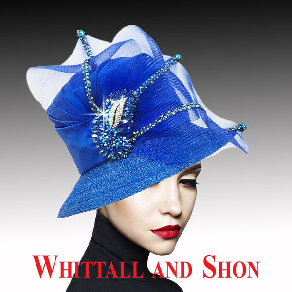 Whittall & Shon Royal Classic Mesh Bucket w Jewel Leaves Hat 2533 MURPHY Fall 2019