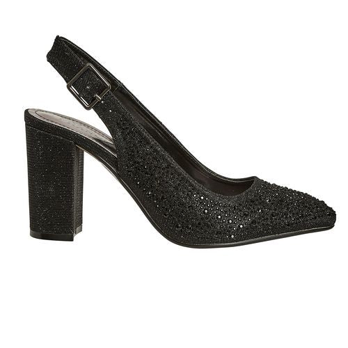 Valenti Franco Black Slingback 38539 - Sign-2 Holiday 2019