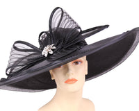 Ms Divine Black Fashion Hat 25-32402 Spring 2020