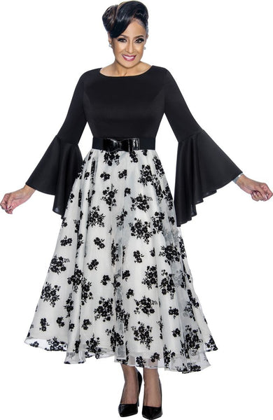 Dorinda Clark Cole White & Black Dress DCC1831 Spring 2021