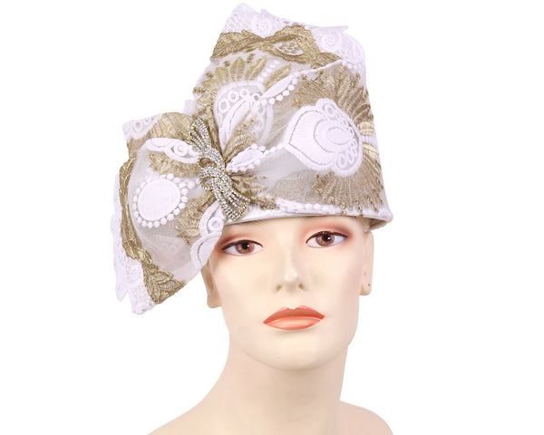 Ms Divine White Gold Fashion Hat 7-HL144 Spring 2020