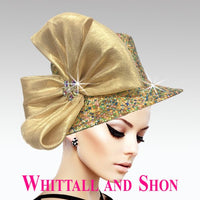 Whittall & Shon Gold Mix Mini Mosaic Jewel Bucket Hat 2626 FLORIAN Spring 2020