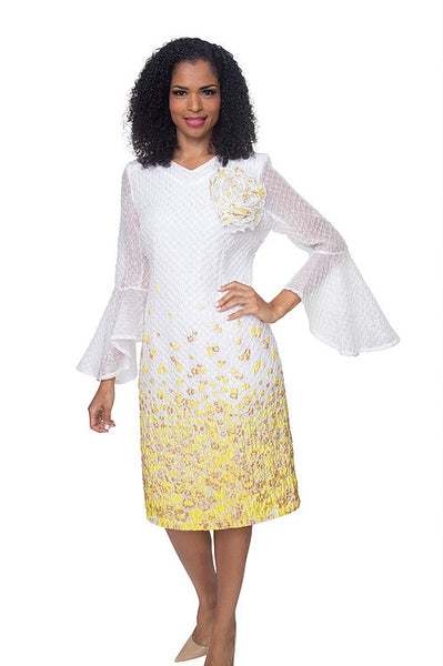 Diana White and Banana Dress 8503 Spring 2020