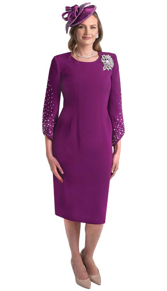 Lily And Taylor Magenta Dress 4385 Markdown 2019