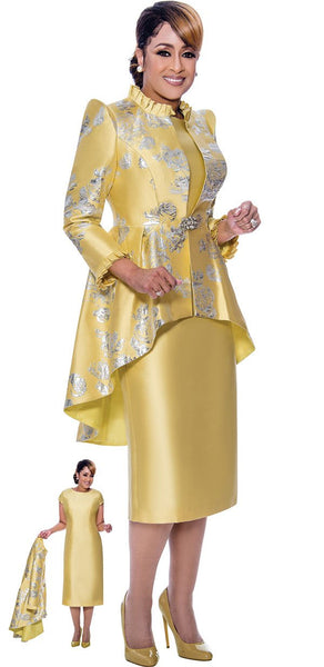 Dorinda Clark Cole Gold Suit Dress DCC2622 Spring 2021