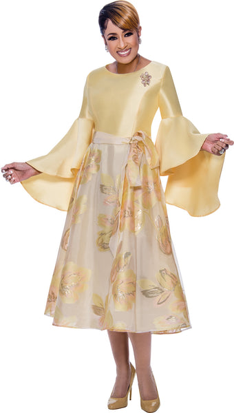 Dorinda Clark Cole Yellow Dress DCC2631 Spring 2020