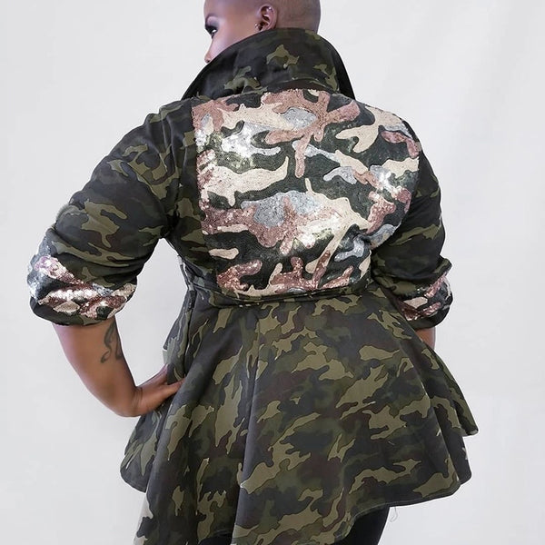 Camouflage Plus Size Jacket  YLMW360 Fall 2020