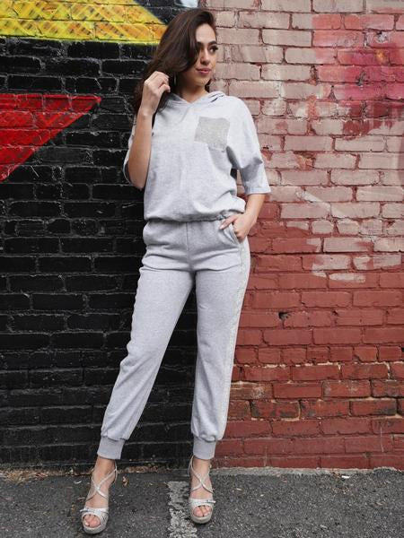 WHY Grey Pull-Over Sweater Top T190332 Summer 2019