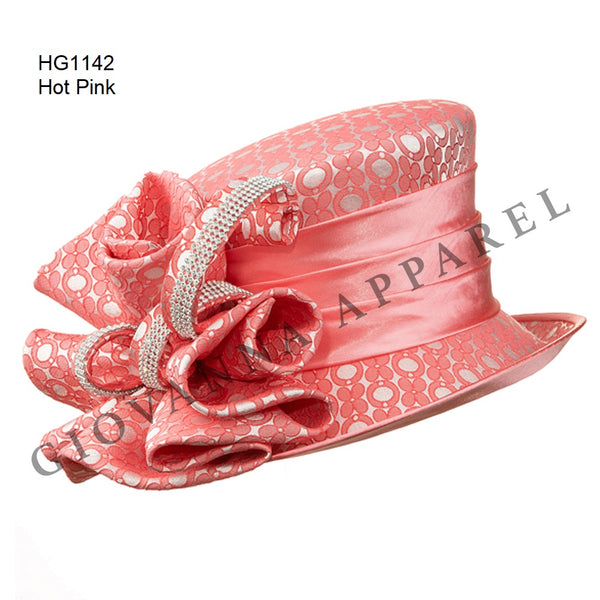Giovanna Hot Pink / Coral G1142 Matching Hat HG1142 Spring 2020