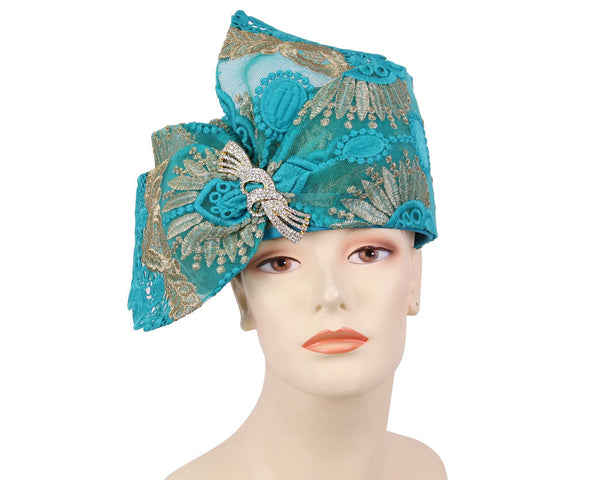 Ms Divine Green Gold Fashion Hat 7-HL144 Spring 2020