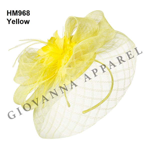 Giovanna Yellow HM968 Fascinator Hat Spring 2020