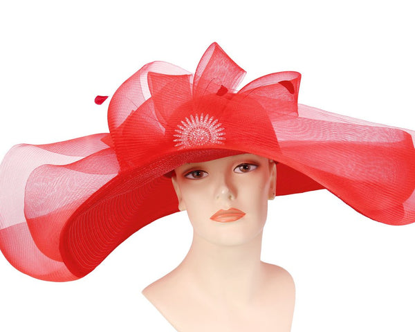 Ms Divine Red Fashion Hat 35-35701 Spring 2020