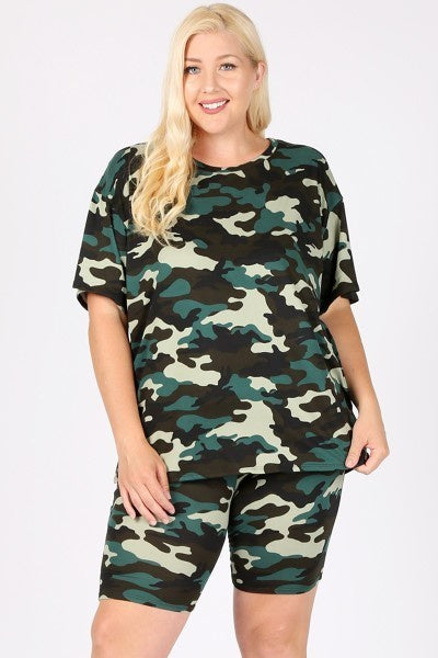 "Green Camo 2 Piece ""Chill Set"" ES04278 Spring 2020"