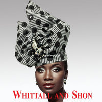 Whittall & Shon Polka Dot Exotic Draped Turban with Jewel Brooch Hat 2518 ABABA Spring 2020