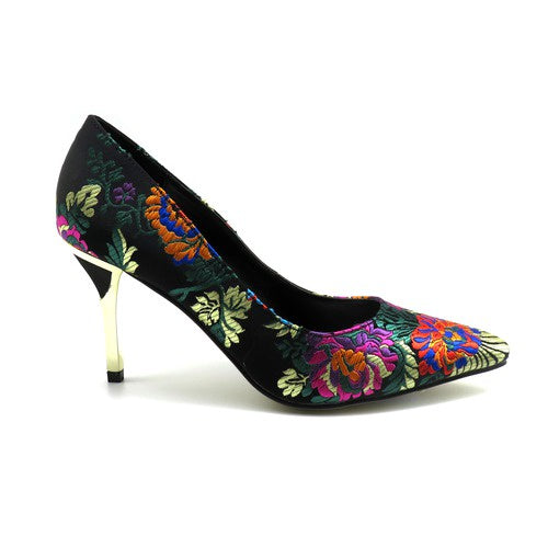 Pierre Dumas Black Multi Color Pump 87802 - DENIS-5 Fall 2019