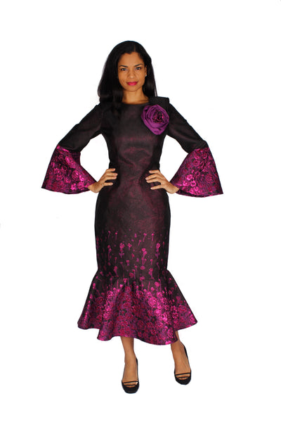 Diana Black Purple Dress 8530 Holiday 2019