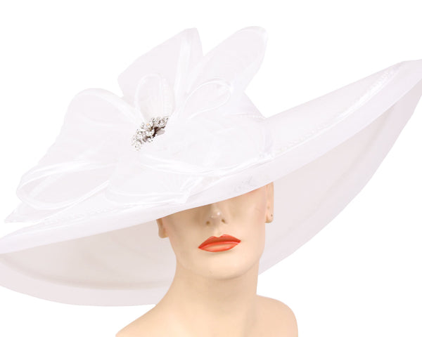Ms Divine White Fashion Hat 25-32402 Spring 2020