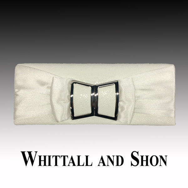 Whittall & Shon White Matching TWIGGY Modern Style  Handbag P138 Fall 2019