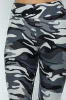 City Grey Camouflage Plus Size One Size High Waist Leggings Fall 2020